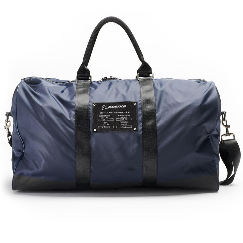 Boeing duffle bag navy back