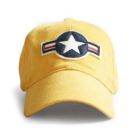 Cap us stripe roundel yellow