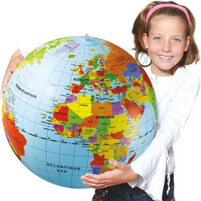 Globe le monde maxi 50cm fillette